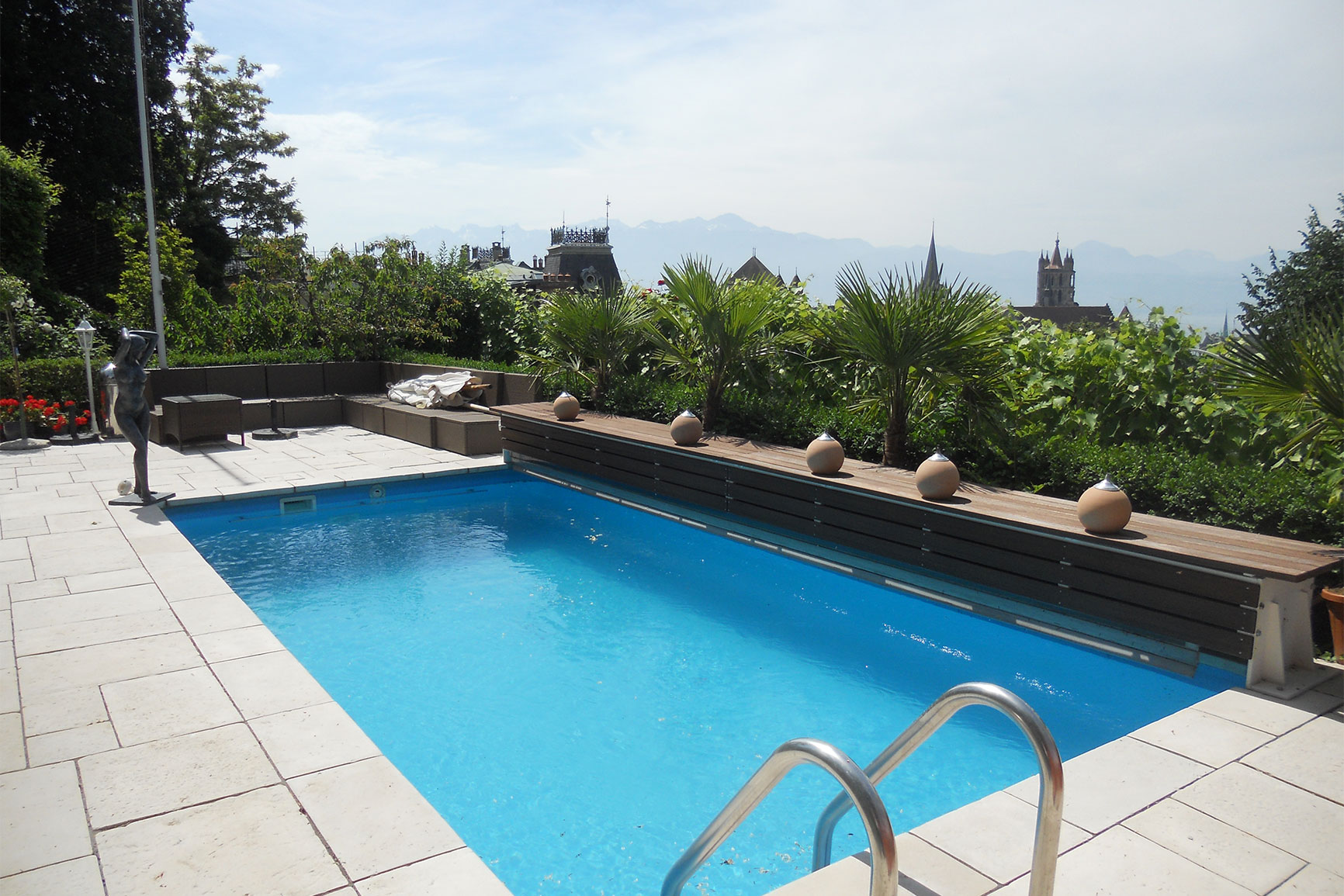 Classique liner piscines widmer for Installation liner piscine